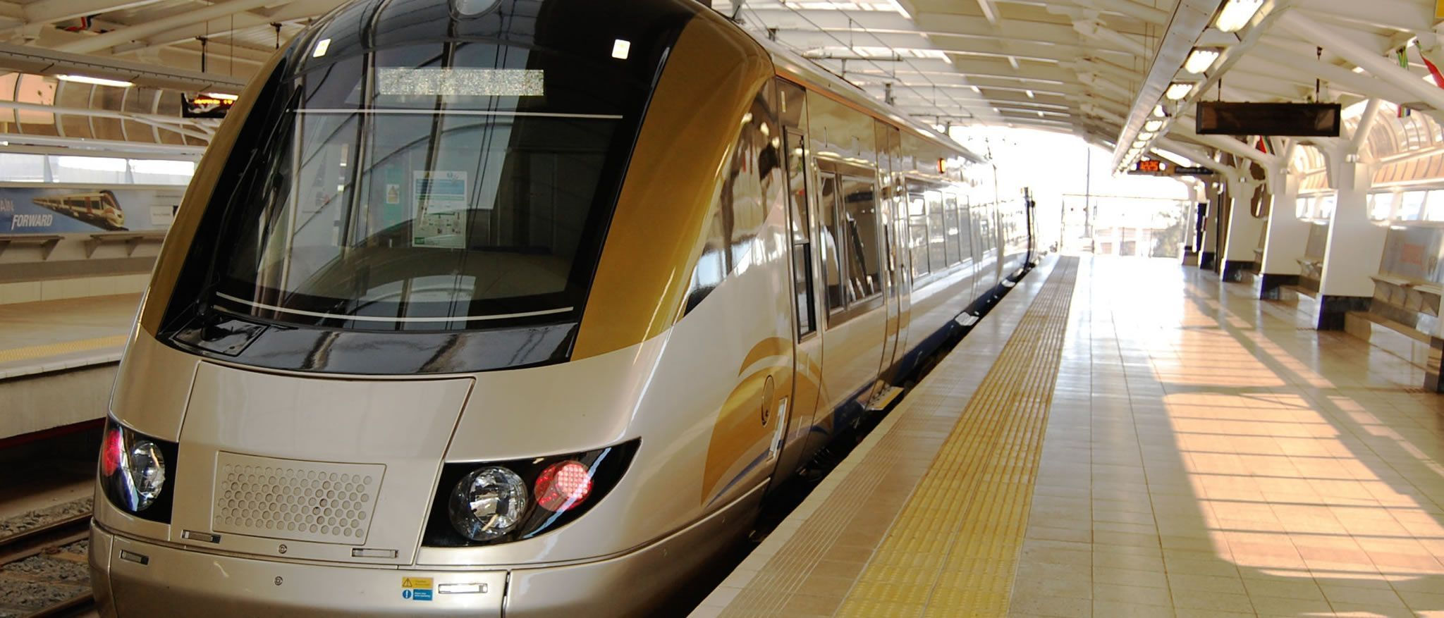 Gautrain train from and to Pretoria and Johannesburg